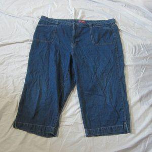 Faded Glory Women's 24W Capri Pants Jeans